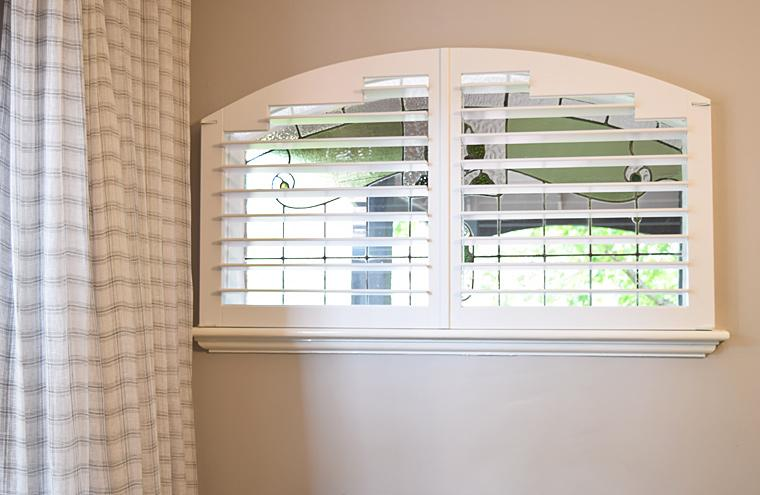 Custom Made Frameless Arch Shutters Prahran Melbourne