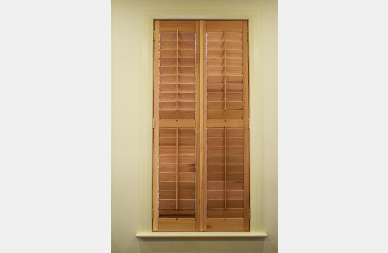 Basswood Teak Timber Hinged Shutters Prahran Melbourne