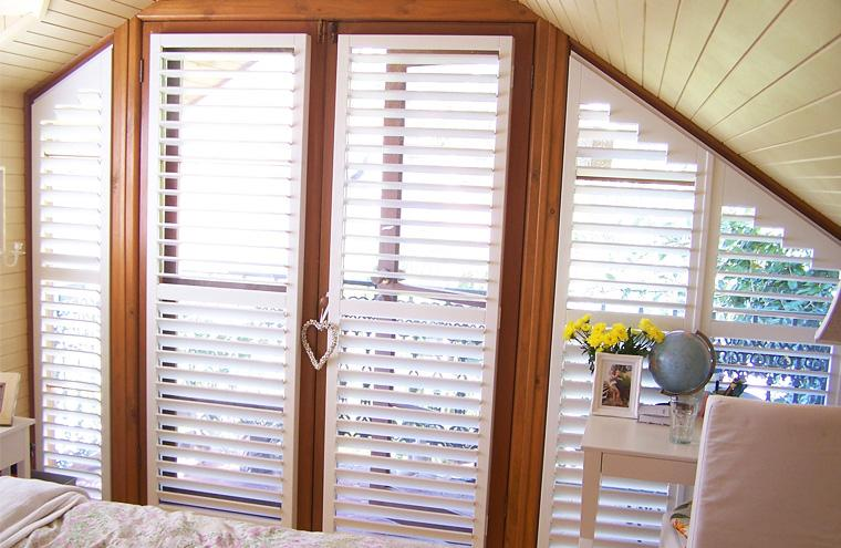 Custom Made Frameless Rake Shutters Prahran Melbourne