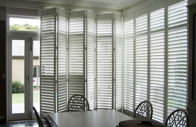 Triangle Folding Doors : Custom made frameless track bi fold shutters prahran melbourne